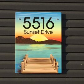 5516 address sign - closeup
